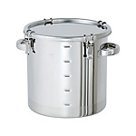 Stainless Steel Airtight Container With Scale (Clip Type) [CTH-M]