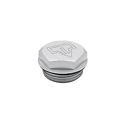 Threaded plugs with and without symbols, Viton-Seal, Aluminium, resistant up to