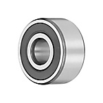 Angular contact ball bearings 33..-BD-2HRS, main dimensions to DIN628-3, double row, lip seals on both sides, contact angle α = 30°