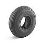 Air tire set, groove profile