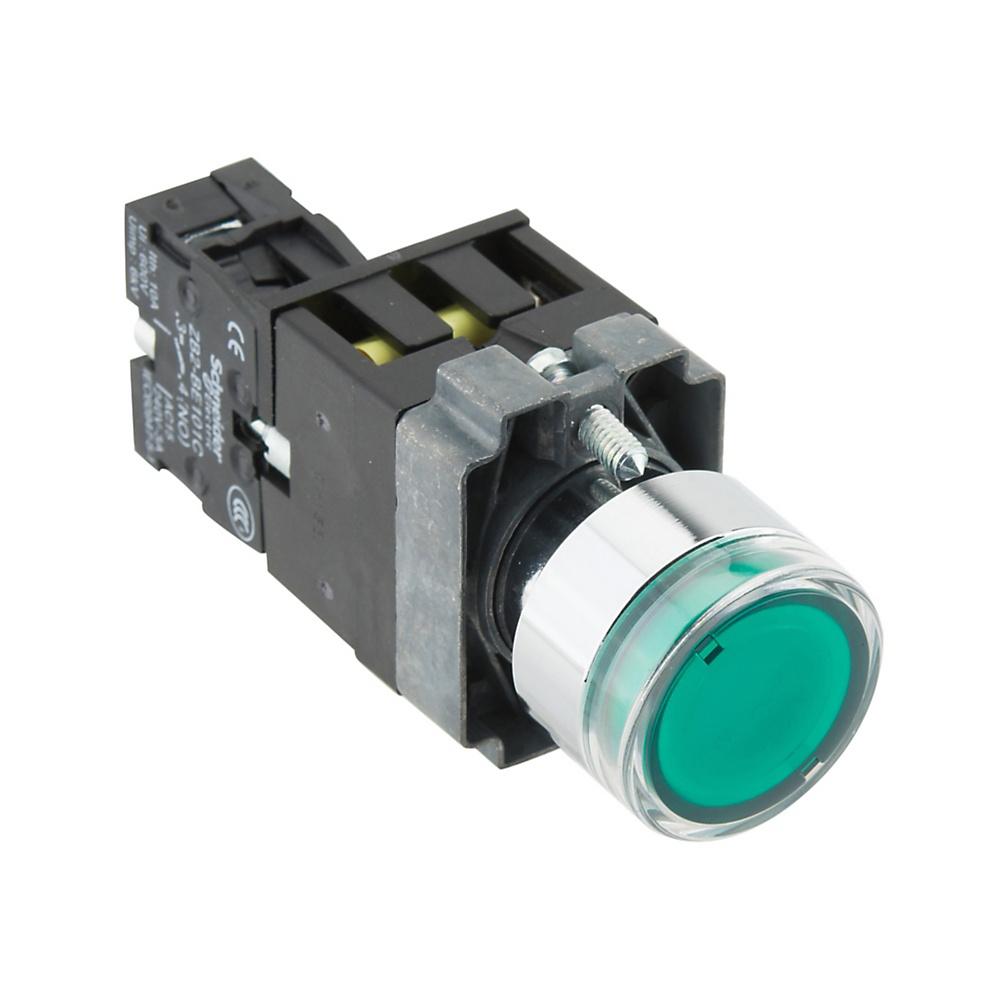 φ22平头带灯按钮XB2B金属系列