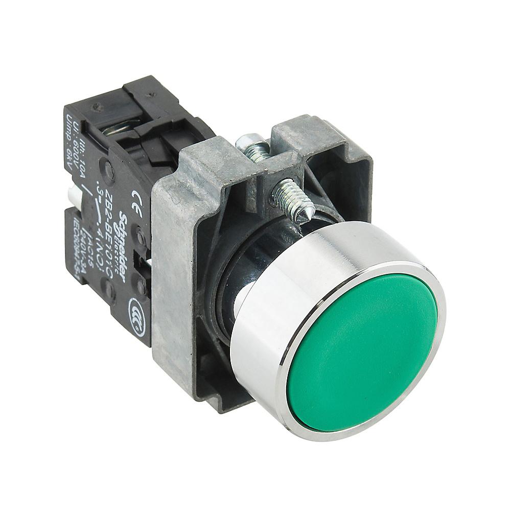 φ22平头按钮XB2B金属系列