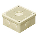 Impact And Weather Resistant Resin Square Box (Free-Mounting Cover) For Exposed Use, IPX3