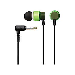 In-Ear-Canal Stereo Headphones / 9.2‑mm Dynamic Driver / Clear Headphones / CS100 / Green