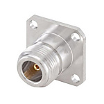 N connector Socket, vertical vertical
