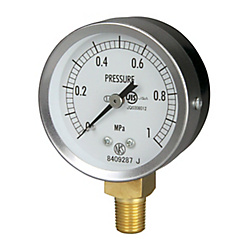 JIS General Purpose Pressure Gauge (A Frame Vertical Type / ø 60 / Tapered Thread) GS50-171-10.0MP
