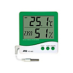 Thermometer and Hygrometer with External Sensors, AD-5682 (with Clock)