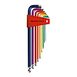Ball End Long Hex Key Set (Rainbow)