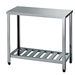 Stainless Steel Workbench, Drainboard Type, SUS430, Height 800 mm HT/KT