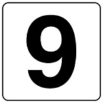 Number Display Sticker Extra Number Display Sticker