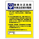 Display Board Indicating Duties of Chief Worker (Safety Signs)