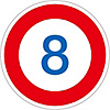 "Road Surface Traffic Sign ""8"" Road Surface -323-8"