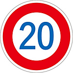 "Road Surface Traffic Sign ""20"" Road Surface -323-20"