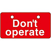 "English Opening and Closing Tags for Valves ""Don't Operate (Red)"" V-6"