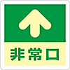 "Floor Placard (Luminescence) ""Emergency Exit ↑"""