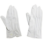 Dress gloves (nylon double) with hook