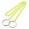 Chain Bar Cone Chain - Fluorescent Green