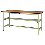 Work table 300 series (fixed H900 mm with mid level shelves)