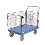 Cart with Pneumatic Tires, Metal Mesh, and Stoppers