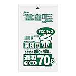 Garbage Bag, Fine Pack for Industrial Use, 70 L, ECO Type, 10 pcs LLDPE