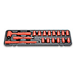 Insulated Ratchet Wrench Set 3/8 sq