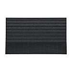 Entranceway Square Mat S Striped Pattern Gray