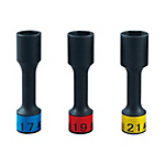 12.7 sq. Wheel Nut Socket Set For Impact Wrenches (Long And Thin)