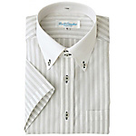 AZ-43048 Short-Sleeve Due Bottoni Button Down Shirt