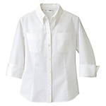 AZ-861204 Ladies' Three-Quarter Sleeve Button Down Shirt