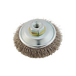 Disc Bevel Brush, Stainless Steel Wire