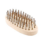 Stainless Steel Wire Brush, 6-Row Oval-Shape
