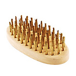 Wire Brush, Plated 6-Row Oval Type, No. 103