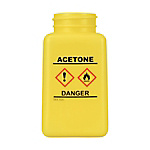 DESCO Bottle, Yellow, GHS Display, Acetone and Print 180 cc
