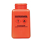 DESCO Bottle, Orange, GHS Display, Isopropanol and Print 180 cc