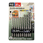 RELIEF Hex-Shank Type Concrete Drill 10‑Pc. Set